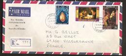 Nouvelles Hébrides 1974 N° 342 + 406 / 7 O Port-Villa, Coquillage, Noël, Tableaux, Vélasquez, Nativité, Honthorst, Mages - Storia Postale