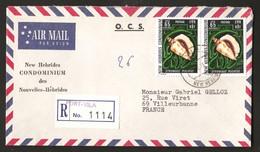 Nouvelles Hébrides 1972 N° 345 O Port-Villa, Coquillage, Strombus Plicatus, Conque Escargot De Mer Mollusque Gastéropode - Storia Postale
