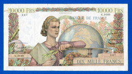 10.000 Fr  Du 6 /11 /1952  Dans  L'etat - 10 000 F 1945-1956 ''Génie Français''