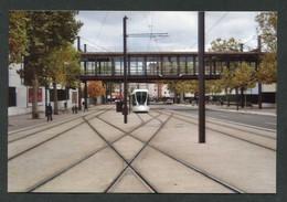 """Photo-carte Tramway  """"Une Rame De Tramway Alstom Citadis 302 Entrant Au Terminus De La Porte De Versailles à Paris"""" - Tram"""