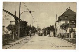 Perly - Poste De Douane Suisse ( Animation, Ligne électrifiée Chemin De Fer, Café Besson) Circulé 1919 - Andere Gemeenten
