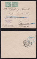 Portugal PONTA DELGADA 1895 Cover 2x25R To VIENNA Austria - Ponta Delgada