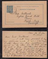 Portugal FUNCHAL 1895 Stationery Postcard MADEIRA To PUERTO CRUZ TENERIFE Teneriffa Spain - Funchal