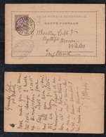 Portugal FUNCHAL 1895 Stationery Postcard MADEIRA To WALES England - Funchal