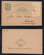 Portugal FUNCHAL 1895 Uprated Stationery Postcard MADEIRA To Cetinje Montenegro - Funchal