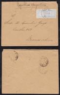 Portugal ANGRA 1894 Cover 2x50R VELAS To BUENOS AIRES Argentina - Angra