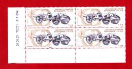 F 2020 / Bloc 4 X 1.16 €, CD 26.08.20, 250 Ans Fardier De Cugnot, Automobile à Vapeur - 2010-....