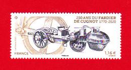 F 2020 / N** / 1.16 € , 250 Ans Fardier De Cugnot, Automobile à Vapeur - Cars