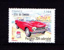 F 2020 / N** / 1.16 € , Peugeot 204 Cabriolet, Fête Du Timbre, Nationale 7, N7 - Automobili
