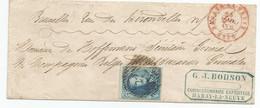 N°7 (20c Bleu) TB Margé + BdF Sup. / O Linéaire + C. à Date Habay-la-Neuve Sur LAC Vers Bruxelles  (1856) - 1851-1857 Medallones (6/8)
