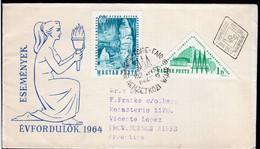 Magyarország - 1964 - Lettre - FDC - Envoyé En Argentina - Circulé - A1RR2 - Hungary