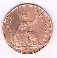 ONE PENNY  1967  GROOT BRITANNIE /8227// - 1902-1971 : Monete Post-Vittoriane