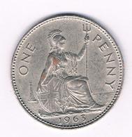 ONE PENNY (verguld)  1963  GROOT BRITANNIE /8228// - 1902-1971 : Monete Post-Vittoriane