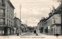 Antony (Seine) La Rue De La Mairie, Restaurant - Edition L.D.B. Paris - Carte N° 901 Non Circulée - Antony