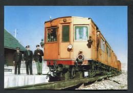 """Carte-photo Moderne """"Tramway - Automotrice En Gare De Font-Romeu - Ligne De Cerdagne - Tram Années 50"""" - Tranvía"""