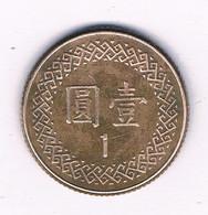 1 YUAN 1981- ?? TAIWAN /8233/ - Taiwan