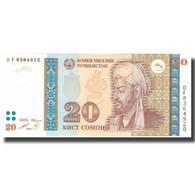 Billet, Tajikistan, 20 Somoni, 1999, 1999, KM:17a, NEUF - Tajikistan