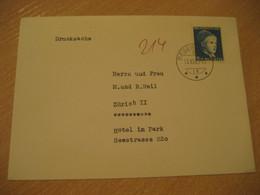 DEGERSHEIM 1963 To Zurich Hotel Im Park Cancel Cover SWITZERLAND - Cartas