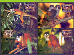 Ngb404mb WWF FAUNA AAP APEN ZOOGDIEREN RED-BACKED SQUIRREL MONKEYS MAMMALS APES AFFEN SINGES PANAMA 2007 MAX - Tarjetas – Máxima