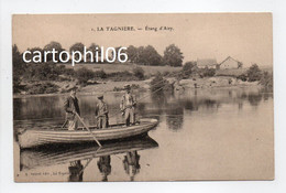 - CPA LA TAGNIÈRE (71) - Étang D'Aisy (avec Pêcheurs En Barque) - Edition A. Sauret - - Otros Municipios