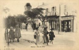 PC CPA ALGERIA, BATNA, RUE DE SÉTIF, J. GEISER, VINTAGE POSTCARD (b8426) - Batna