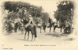 PC CPA ALGERIA, BATNA, RUE DE SÉTIT, J. GEISER, VINTAGE POSTCARD (b8558) - Batna