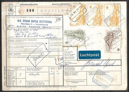 USED PARCEL CARD BELGIUM TO PAKISTAN - Other