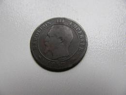 2 Centimes Napoléon III 1855D Chien  Petit D Petit Lion - B. 2 Centimes
