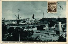 PC CPA MOZAMBIQUE / PORTUGAL, PART VIEW OF THE PORT, VINTAGE POSTCARD (b13386) - Mozambique