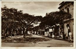 PC CPA MOZAMBIQUE / PORTUGAL, BEIRA STREET SCENE, VINTAGE POSTCARD (b13405) - Mozambique