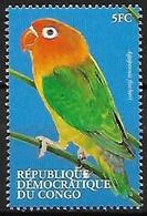 Congo Kinshasa ( République Democratique)  MNH ** 2000 :   Fischer's Lovebird  -  Agapornis Fischeri - Papegaaien, Parkieten
