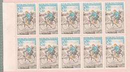 1 Bloc  De 10 Timbres :  France N° 1710     Année  1972  :  Journée Du Timbre  Facteur Rural & église De Champignelles - Nuevos