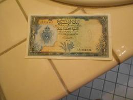 LIBIA   1963     - ONE  POUND   BILLET  - RARE - Libia