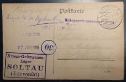 Militaria - SOLTAU - Kriegs-Gefangenen-Lager - Soltau Edewecht - Circulé: 1915 - 2 Scans - Militaria