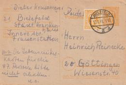 Allemagne Bizone Entier Postal Bielefeld 1946 - American/British Zone