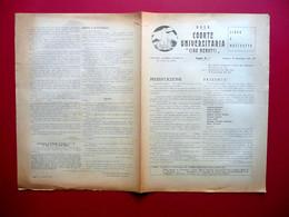 MVSN Coorte Universitaria Ciro Menotti Foglio Numero 1 Modena 18/11/1941 WW2 - Libri, Riviste, Fumetti