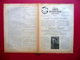MVSN Coorte Universitaria Ciro Menotti Foglio Numero 2 Modena 18/12/1941 WW2 - Libri, Riviste, Fumetti