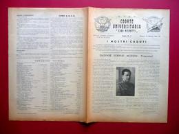 MVSN Coorte Universitaria Ciro Menotti Foglio Numero 3 Modena 18/1/1942 WW2 - Libri, Riviste, Fumetti
