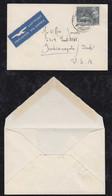 Schweiz 1950 Airmail Printed Matter 50Rp Single Use ZÜRICH FRAUENMÜNSTER To INDIANAPOLIS USA - Cartas