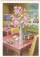 BUON ANNO - Cartolina D3 805/8 - Lampada - Fiori - Radio - Chiesa - Neve - Nieuwjaar