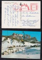Italy 1974 Meter Picture Postcard LA VILLA VAL BADIA ROSA ALPINA To Germany - Affrancature Meccaniche Rosse (EMA)