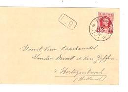 REF2012/ TP 256 Albert Houyoux S/CP Maatschappij 'DE VOLKSWIL'  C.Turnhout 8/11/1928 > Holland - Brieven En Documenten