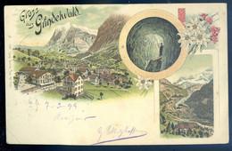 Cpa De Suisse Litho  Gruss Aus Grindelwald SE20-32 - BE Berne