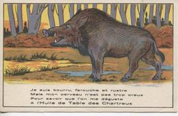 CARTE PUBLICITAIRE SUR L'HUILE DE TABLE DES CHARTREUX - Advertising