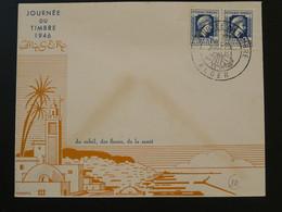 Lettre FDC Journée Du Timbre Alger Algérie 1946 (ex 4) - Storia Postale