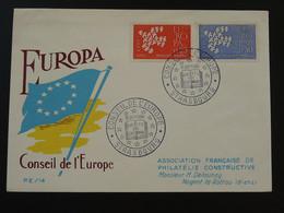 FDC Conseil De L'Europe Strasbourg Europa 1961 (ex 2) - Europa-CEPT