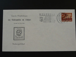 Sirène Mermaid Melusina Flamme Sur Lettre Postmark On Cover Luxembourg 1962 - Contes, Fables & Légendes