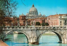 ROM - Cupula Di S. Pietro E Ponte Elio Dal Lungotevere / Petersdom Mit Elio Brücke - San Pietro