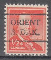 USA Precancel Vorausentwertung Preo, Locals South Dakota, Orient 716 - Preobliterati