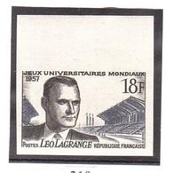 NON DENTELÉ De FRANCE N° 1120 Sport Léo Lagrange - Imperforates